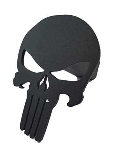 Punisher Trailer Hitch Cover - Steel & Powder Coated