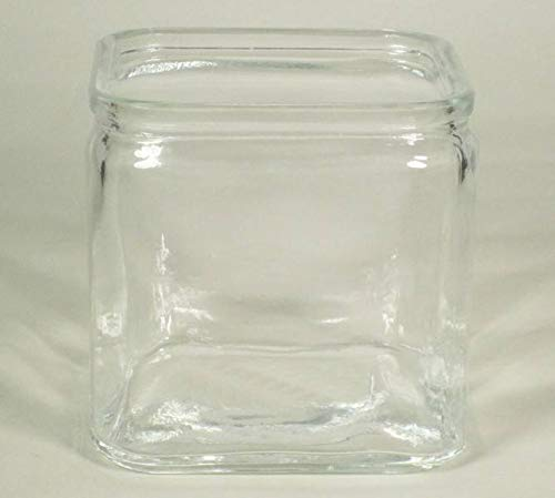 INNA-Glas Glasvase Sean, Würfel - viereckig, klar, 12x12x12cm - Deko Vase - Glaswürfel