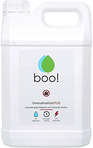 boo! Plus - Extra Starkes Insektenspray - Insektenschutz als Spray Gegen Mücken, Milben, Bettwanzen Etc - Insektizid auf Wasserbasis - Langzeitwirkung von bis zu 3 Monaten - 5 Liter