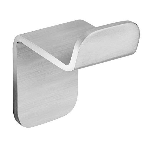 WEISSENSTEIN Gancho adhesivo pared | Perchero y toallero para baño | Colgador de acero inoxidable | 1 gancho