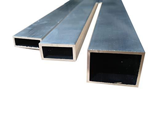 Alu Vierkantrohr Quadratrohr Aluminium Rechteckrohr Hohlprofil (40 x 20 x 3 mm, Länge: 2.000 mm)