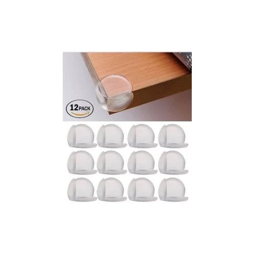 12X Round Soft Corner Protectors Baby /& Child Furniture Protection