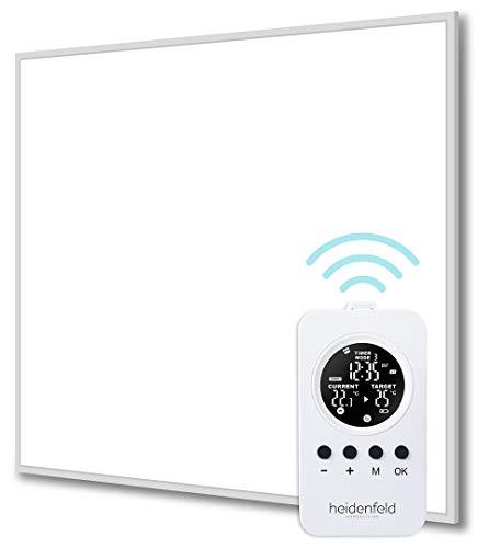 Heidenfeld Infrarotheizung HF-HP100/110 Weiß - 10 Jahre Garantie - inkl. Thermostat - Deutsche Qualitätsmarke - TÜV GS - 300 - 1200 Watt - 3 - 28 m² (HF-HP110 800 Watt)