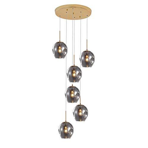 WEM Bola de cristal 12-luces araña de gota de lluvia, 220 cm...