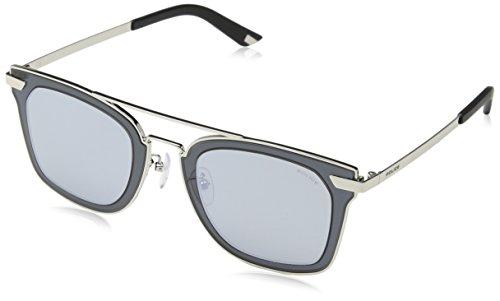 Police Herren Halo 1 SPL348 Sonnenbrille, Shiny Palladium 49579x, Einheitsgröße