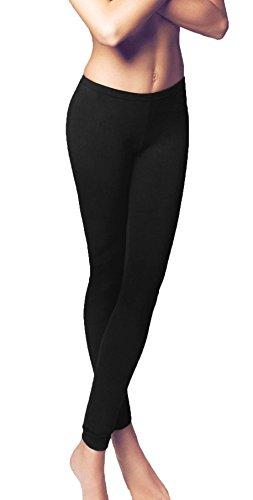 leggings donna JADEA art. 4192 cotone elasticizzato (s/m, nero)