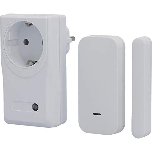 UNITEC Funk-Abluftsteuerung mit Fenster-Kontaktschalter und Magnetkontakt | Funk-Zwischenschalter | Fenstersensor
