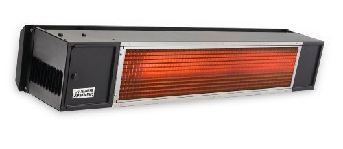 SunPak S34-B-TSH, Black Two-Stage Hard Wired Permanent Gas Patio Heater