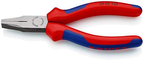 KNIPEX 20 02 140 Pince à becs plats noire atramentisée avec gaines bi-matière 140 mm