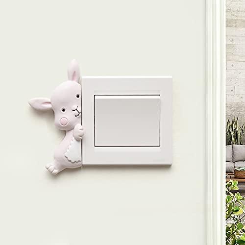 Wydgs Juego de pegatinas de interruptor de animales del zodiaco para decoración de pared de dormitorio (color: A)