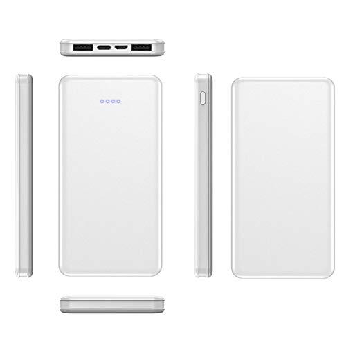 AEU Cargador Portátil 20000Mah Batería Externa con 2 Entradas Y 2 Salidas De Puertos USB Y 4 Luces Indicadoras Cargador Portátil Móvil Compatible con Teléfonos Inteligentes, Tabletas Y Otros