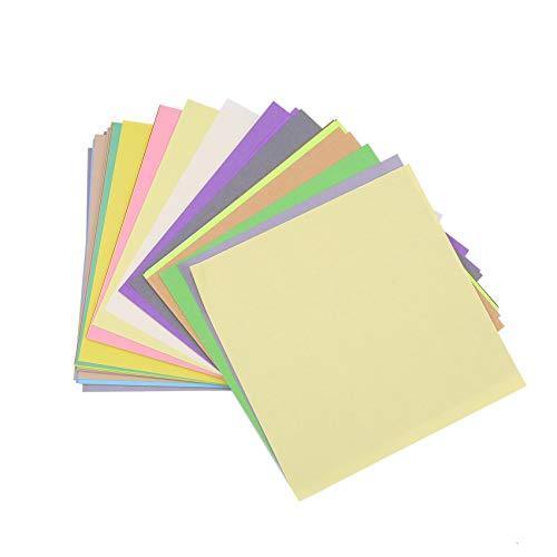 Katigan Papel De Origami 50 Colores Vivos Doble Cara 200 Hojas Calidad Superior 15 Cm X 15 Cm Para Proyectos De Artes Y Artesanías - Mismo Color En Ambos Lados