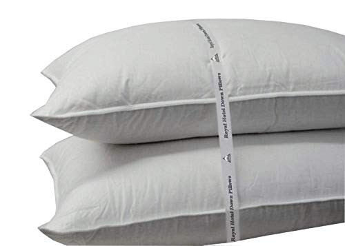 Royal Hotel Soft Down Pillow - 500 Thread Count Cotton Shell, Down Pillow Soft, King Size, Soft, 1 Single Pillow