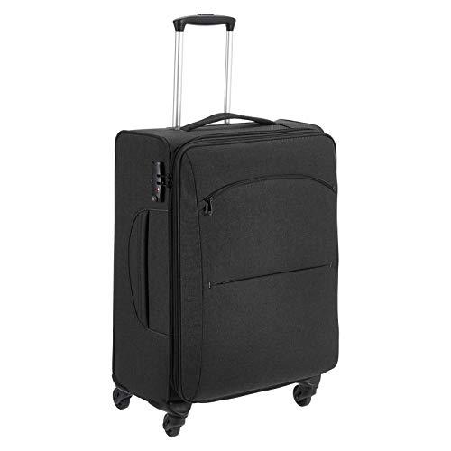 Amazon Basics Urban Softside Spinner Luggage, 25-Inch, Black