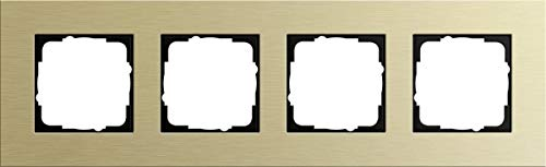 Gira 0214217 Abdeckrahmen Esprit 4-Fach, Aluminium/hellgold