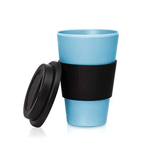 bambuswald©Taza reutilizable de bambú 450 ml|Taza de café para llevar - con...
