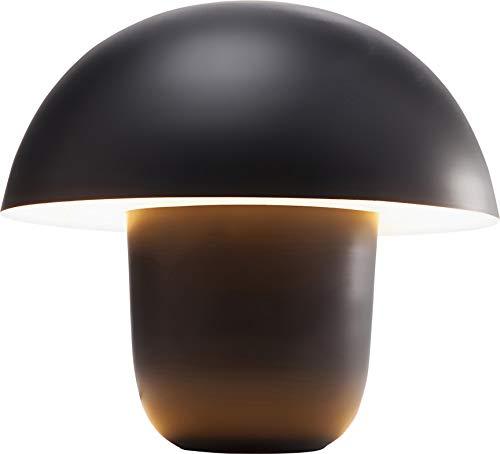 Kare - Lampada da tavolo, motivo: funghi, Acciaio polverizzato, Nero, Piccolo