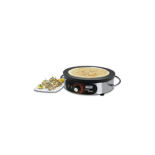 """Waring Commercial WSC160X Heavy-Duty Electric Crepe Maker, 16"""", Stainless Steel"""