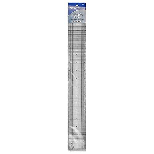 Westcott Beveled Graph Ruler 5,1x 45,7cm, trasparente (b-85b)