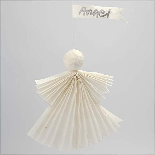 Seidenpapier weiß 20860 von Creativ Company – Transparentes Seidenpapier zum Basteln und zur Dekoration. 50 x 70 cm, 14g/qm, 25 Blatt. - 5