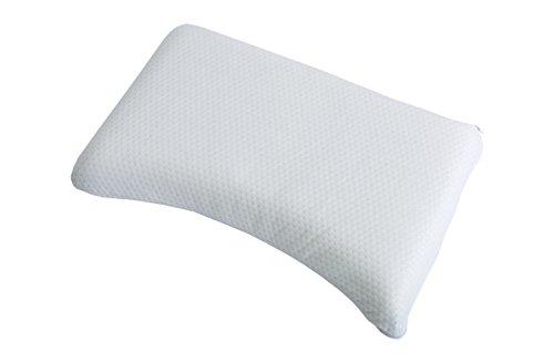 Best Schlaf Visco Comfort, Kissen ca. 40x80 cm, Höhe 10 cm, Nackenstützkissen, Kissenbezug inklusive, weiß