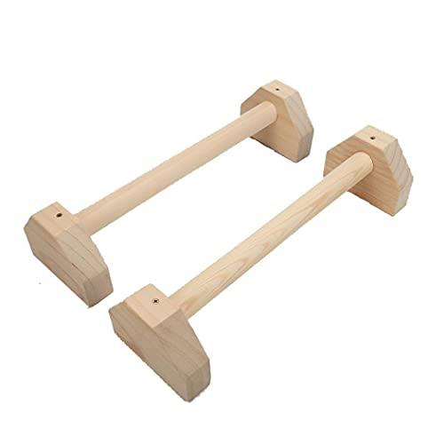 MilkyWay Juego de 2 barras de madera para empujar hacia arriba, de madera, antideslizantes o tambaleantes, soportes elásticos de doble varilla (4 lados: 50 x 14 x 11 cm)