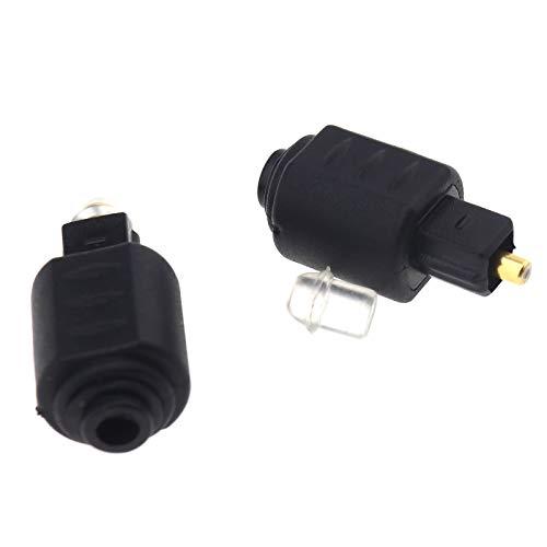 Adattatore audio da 2 pezzi Presa mini jack femmina ottica da 2,7 mm per adattatori maschio Toslink digitale