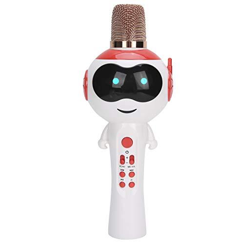 Karaoke Mano Bluetooth MicróFono InaláMbrico PortáTil Altavoz de MicróFono con Efecto de Luz LED y ReverberacióN para NiñOs para Dispositivos/Ordenadores/TeléFonos MóViles IOS/Android