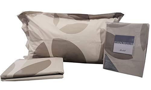 Juego de funda nórdica Mirabello Emporium Slice para cama individual 1 plaza individual 100% percal de puro algodón saco + bajera + funda de almohada