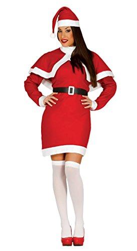 Guirca- Disfraz Mamá Noel adulto, Color rojo, talla L (42693.0) , color/modelo surtido