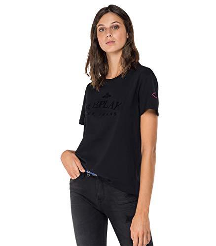Replay Damen W3517 .000.22832P T-Shirt, 098 Black, M