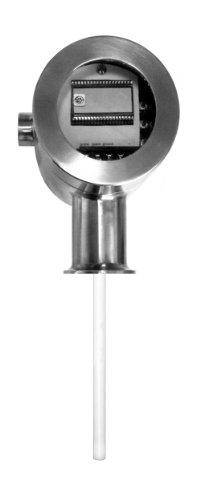 "Lumenite MLST-4220-C2""-72"" Sanitary Microprocessor Based Capacitance Continuous Level Transmitter, 24VDC Voltage, 2"" Tri Clamp, 72"" Probe Length"