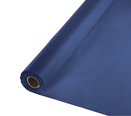 Creative Converting Roll Plastic Table Cover, 100-Feet, Navy