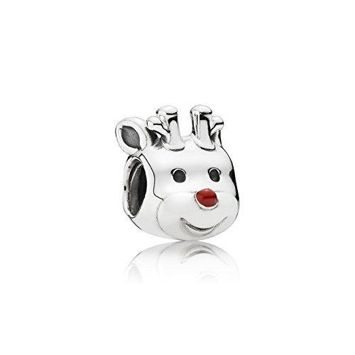 PANDORA Red-Nosed Reindeer, Red Enamel