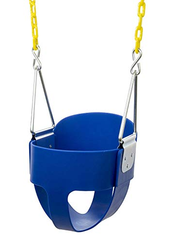 Best Prices! Squirrel Products High Back Full Bucket Toddler Swing Seat with Plastic Coated Chains -...