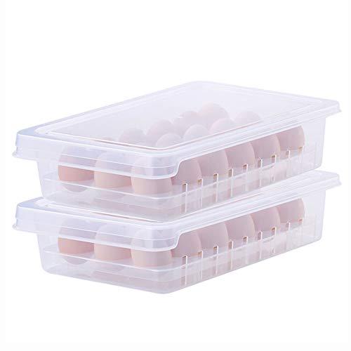 FSGD Koelkast met deksel eieropslagdoos, keuken voedsel opslagdoos eend eierdoos, 18 eierdoos