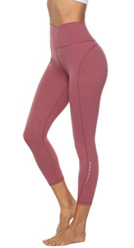 Edeey Yoga Pants for Women High Waisted Tummy Control Spandex Exercise Safe Reflector Running Athletic Leggings with Pockets Womens Workout Pants
