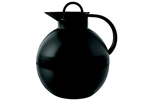 alfi 0115.020.094 Isolierkanne Kugel, Kunststoff Schwarz 0,94 l, 12 Stunden heiß, 24 Stunden kalt, Frosted