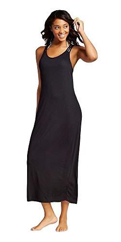 Xhilaration Women's Strappy Back Maxi Swim Cover Up Dress (Black, Medium)
