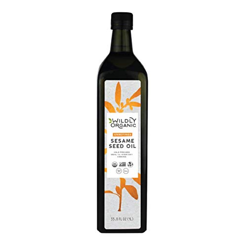 Organic Sesame Seed Oil - Cold Pressed and Unrefined - 1 Liter Bulk