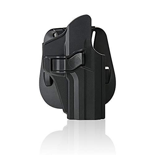 efluky Holster Paddle Liberación del Gatillo y Ángulo de Inclinación Ajustable para H&K& USP 9mm/.40 full size- Molde de Polímero Moldeado por Inyección - Negro