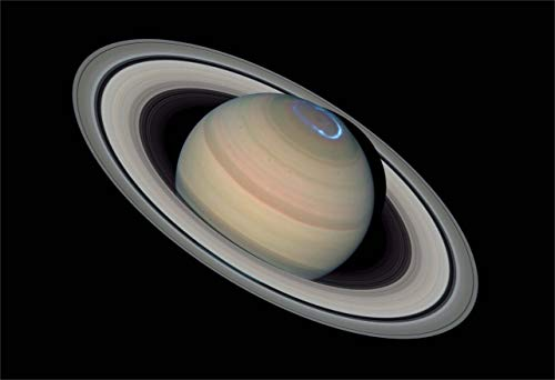 New Horizon Aviation, LLC Space Poster of a Saturn Aurora Fine Art Print