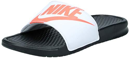 Nike Herren Benassi JDI Printed Dusch- & Badeschuhe, Schwarz (Black/BRT Crimson/White 029), 47 1/2 EU