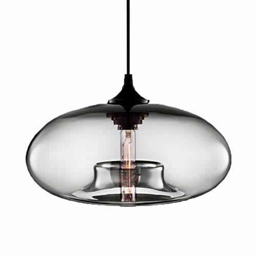 Loft moderne suspendu luminaire en verre E27 Luminaires Cuisine Restaurant Salon Chambre (clair)