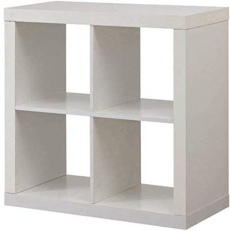 Better Homes and Gardens* Bookshelf Square Storage Cabinet 4-Cube Organizer White (White, 4-Cube) (4-Cube, White)