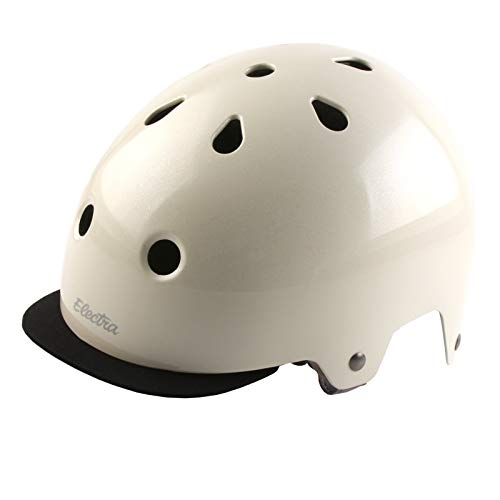Electra Bicycle Electra Fahrrad Helm Solid Color Serie Fidlock ABS Innenpolster waschbar, EHelmetSC, Farbe Cream Sparkle, Größe M