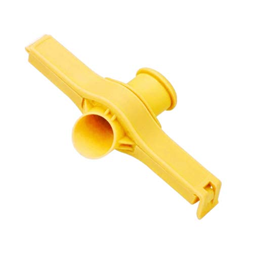 Yue668 Beutelclip Gießen Lebensmittelversiegelung Aufbewahrungssiegel Versiegelung Gefrierschrank Kühlklemmenabdeckungen (Gelb)