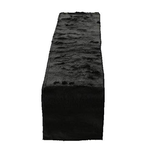 Unbekannt 1x Tischläufer Felly Fell Länge 120 cm schwarz, Tischdeko, Geschenk, Wunschmodell:rechts