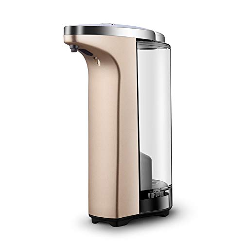 Liuzecai Automático dispensador de jabón 800 ml de Capacidad dispensadores automáticos de jabón, sin Contacto de la batería Operado Manos Libres dispensador de jabón Instalaciones de Hotel Salud