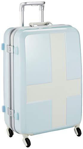 [イノベーター] スーツケース グッドサイズ カードロック ベーシックモデル INV58T 保証付 60L 58 cm 4kg ブルー/アイボリー